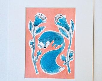 Fox - Original Illustration ink 29, 7 cm x L21