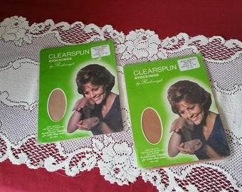 2 Pair Vintage Seamless Nylon Stockings in Original Package