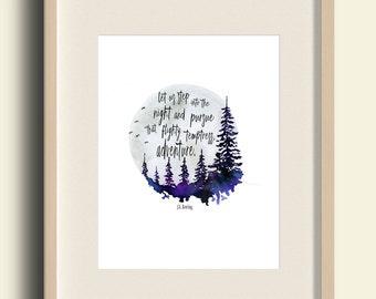 Dumbledore Quote, Harry Potter Print, Flighty Temptress Quote, harry potter baby, harry potter gift, harry potter nursery, baby shower gift