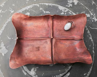 Handmade Copper Ring Tray (petite)