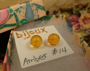 Amber Post Earrings