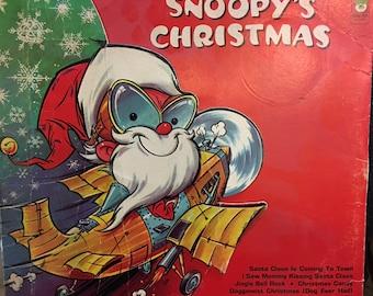 Snoopy's Christmas LP Vinyl Record Peter Pan Records 8090