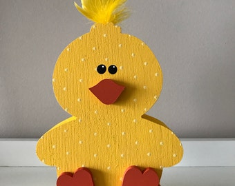 Sitting Easter Chick, Wooden Decoration