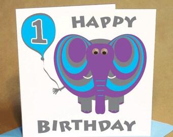 Age 1 Boy Birthday Card