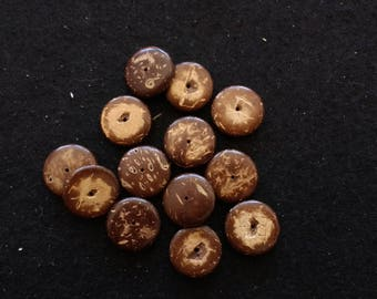 Vintage Coconut Shell Disc Beads