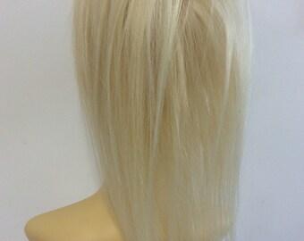 Lightest Blonde  60  12 inches human hair ponytail scrunchie