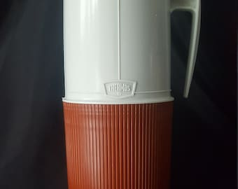 Vintage Burnt Orange/Brown Model 6402 Thermos Made In Canada