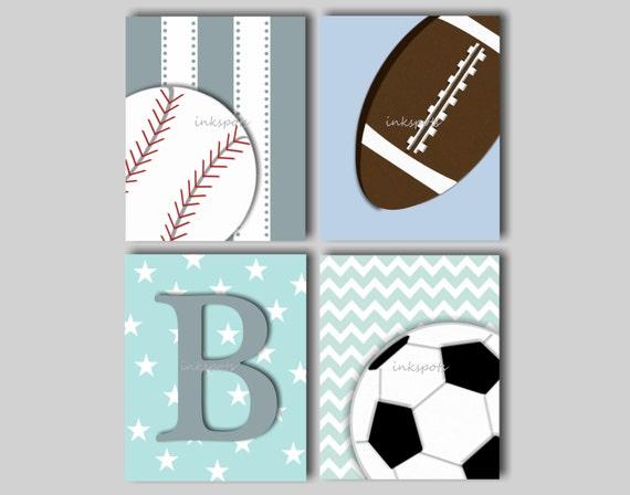 Baby Boy Nursery Art Baby Boy Sports Prints Sports Decor