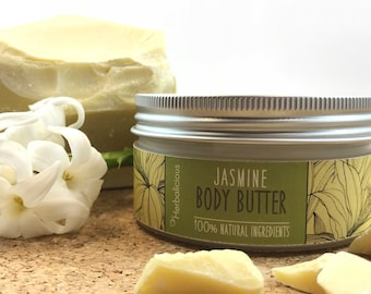 Jasmine body butter, natural body butter, organic moisturizer, natural skin care, organic body butter, gift for her, myherbalicious
