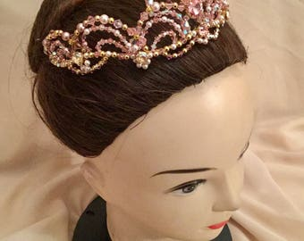 Ballet tiara,Professional ballet headpiece ,Swarovski,Tiara Aurora,tiara Sleeping Beauty,Sugar Plum Fairy,