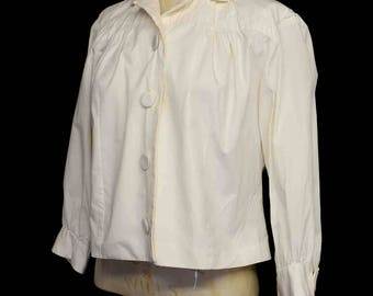 Original vintage 1950s cream cotton blouse - free shipping