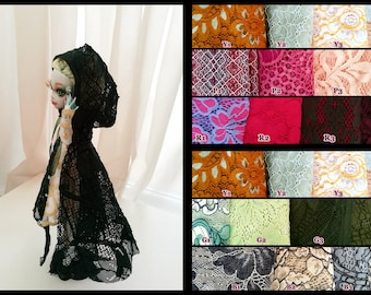 Many Colors Monster High Doll Ever After High Clothes lace Cape Cloak hooded