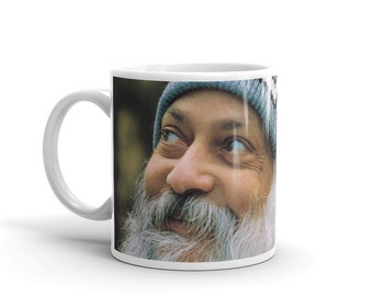 Rajneesh Mug, Coffee mug, Osho, Bhagwan, Osho Eyes, gift for friend, Coffee cup, Gift for her, funny mug, Vintage, Mug, Osho signature,