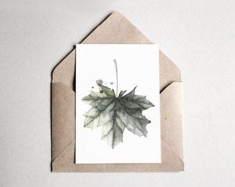 Watercolor Postcard Norway Maple | A6 | Kunstdruck