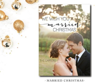 Married Christmas Printed Cards   Christmas Card   Printed or Printable by DarbyCards