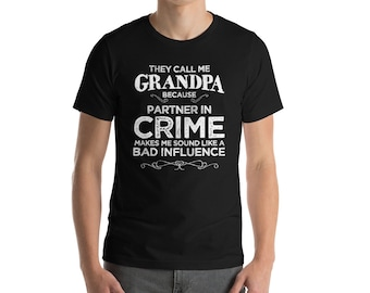 They Call Me Grandpa Because Partner In Crime T-shirt-Grandparent Gift-Grandpa Gift-Grandpa Shirt-Grandfather Gift-Father's Day Gift-Cooler
