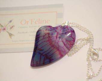 "Necklace ""Love life"" ↠ stone: agate (Anti Stress - optimism -) ↠ Zen Yoga Meditation ↠"