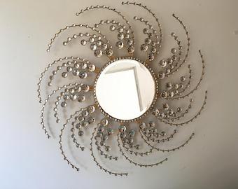 Decorative Starburst Mirror,Metal Wall Mirror,Wall Hanging Mirror in Sunburst Shape (Sunburst Mirror)