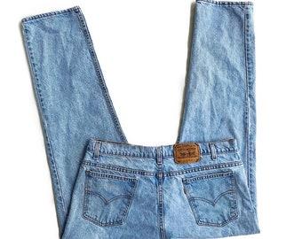 LEVI STRAUSS Vintage 80s Made in USA Orange Tab Straight Leg Denim Jeans Size Men's 38 W