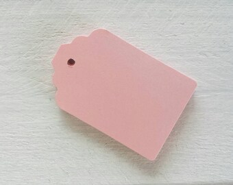 Pink Gift Tags-Light Pink, Blush, Medium Pink or Hot Pink Tags- 25-50 or 100-Hang Tags-Price Tags-Blank-Craft Punch