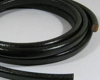 25% Off Regaliz Licorice Leather - Black - R6 - Choose Your Length