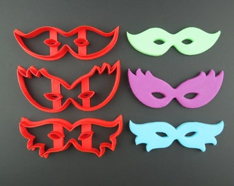 Mardi Gras Mask Cookie Cutters 3D Printed Mask Cookie Cutters - Gift for Bakers