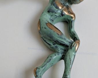 Man, Bronze, Discus Thrower
