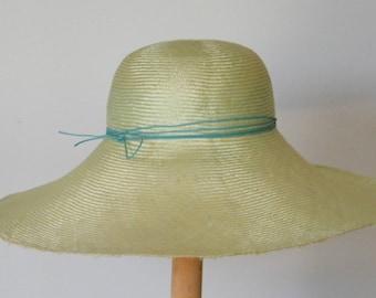 green summer hat, elegant sun hat, wide brim straw hat for women, ladies summer hat UK. large summer hat. hat for large head