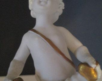 CAPIDOMONTE CHERUB ACCORDION Player, Capidomonte Cherub, Capidomonte Figurine, Capidomonte Accordion Figurine