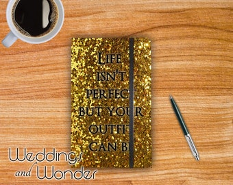 Life Isn't Perfect - Designer Bullet Journal Dotted Notebook