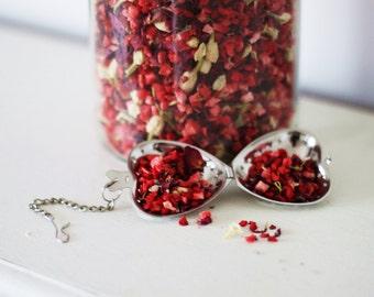 Heart Tea Infuser & Tea Gift Set teabelly Organic Artisan Herbal Tea Infusion Tisane