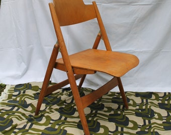 50s Vintage Original Egon Eiermann SE 18 by Wilde & Spieth Folding Chair Version Iconic Design Mid Century Modern Plywood 1950s Modernism n2