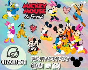 Mickey and friends Clipart 117 PNG High Resolution Disney Clipart transparent/party/printable