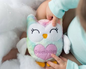 Birthday Gift for Niece, Personalized Toddler Gifts, Owl Plush, Stuffed Owl for Toddler