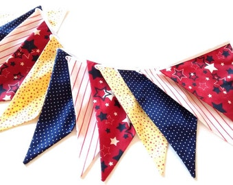 Bunting flags Fabric banner Flags banner Fabric garland Bunting garland Nursery bunting Baby garland