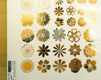 Small Flower Ceramic Decals, Glass Decals or Enamel Decals