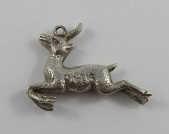 Gazelle Silver Vintage Charm For Bracelet
