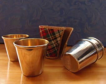 VINTAGE PLAID SHOT Glass Set