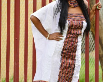 Ethiopian dress Habesha dress Ethiopian clothing Ethiopian modern dress Kemisd