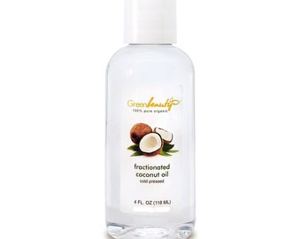 FRACTIONATED COCONUT carrier OIL cold pressed 100% pure organic natural 4OZ