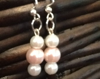 Elegant bead dangle earrings