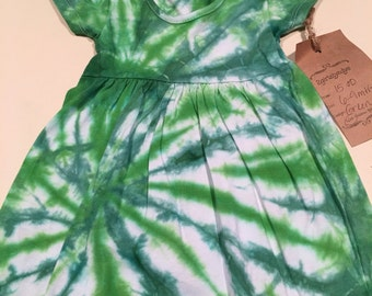 6-9 mth   Go green tye dye dress 6-9 mth
