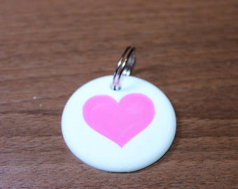 Heart 3D printed Keyring Inspired by the Portal companion Cube.