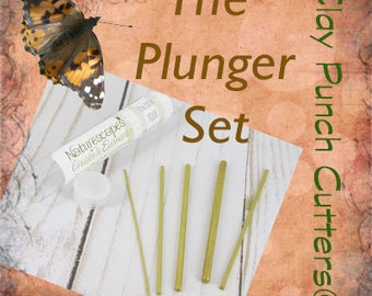 CPC™ Plunger Set - Clay Punch Cutters™ -  Round Plunger set - Metal Clay Artists