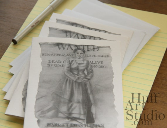 Items similar to Harriet Tubman Wanted Poster by Earnestine Huff ...
