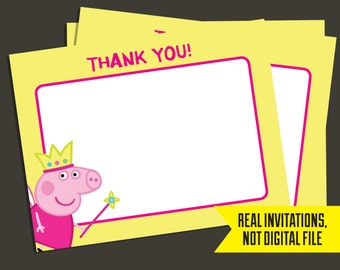 Peppa Pig Thank You Cards - Fairy Peppa Pig Thank You Cards - Peppa PigPrinted
