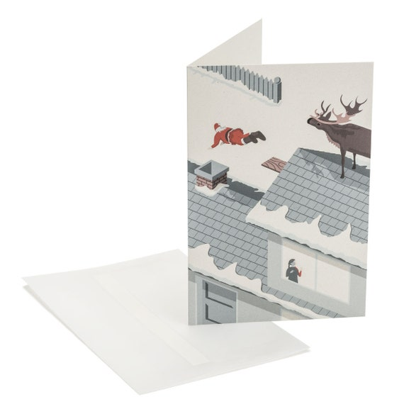 DIVING SANTA. Funny Christmas card. Diving Santa. Ironic Christmas. For divers. For him. For her.