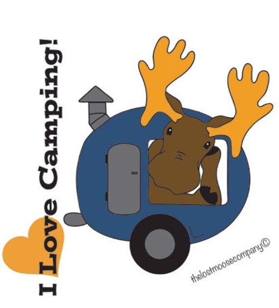 The lost moose company i love camping sticker vinyl camper rv bumper sticker car window decal camp trailer rving from thelostmoosecompany on etsy studio