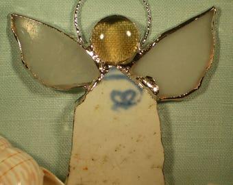 Genuine Beach Pottery and Sea Glass Angel