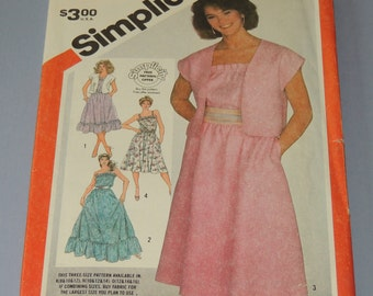 Uncut 10-14 Simplicity 5988 Sundress and Jacket pattern